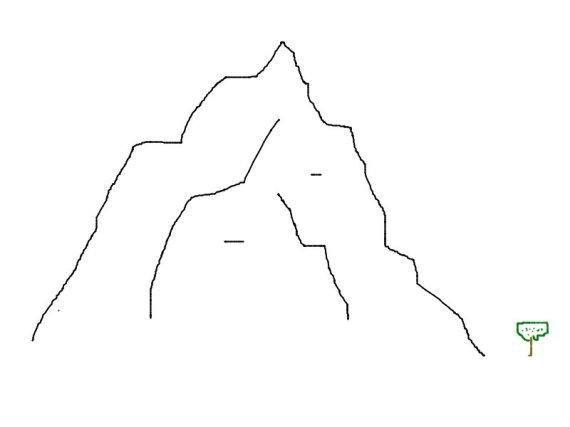 Muntele si copacul - simplu